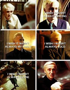 This is why Draco is my favorite character! He's just misunderstood!