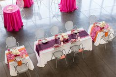 Modern colorful pink and orange wedding / Huong Forrest Photography