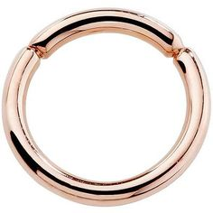 Body Piercing Jewelry 32050: 14K Rose Gold Segment Hoop Ring Cartilage Lip Septum Nipple Nose Body Jewelry -> BUY IT NOW ONLY: $69.04 on eBay!