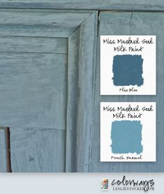 Layering MMS Miss Mustard Seed Milk Paint. French Enamel over Flow Blue Annie Sloan Chalk Paint Techniques, Annie Sloan Paints, Milk Paint Furniture, Painted Furniture, Monochromatic Color Scheme, Miss Mustard Seeds, Paint Brands, Paint Samples, Paint Finishes