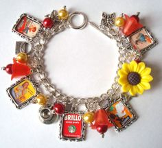 Vintage inspired Mothers Day Retro 1950s Advert Picture Charm Bracelet