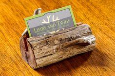 Log Business Card Holder Wood Wooden Business Card Holder