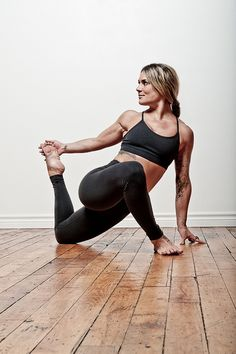 Amber Joliat by Tobias Visualbass, via Flickr ~ Great stretch for your thigh and shoulder