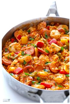 The Best Easy Shrimp Creole Recipe You Will Ever Taste . Easy Paella With Chicken Shrimp And Sausage You Can Use . The Best Shrimp Quesadillas Gimme Delicious. Home and Family Slow Cooker Recipes, Cooking Recipes, Healthy Recipes, Weeknight Recipes, Cooking Games, Delicious Recipes, Best Jambalaya Recipe, Homemade Jambalaya, Jambalaya Rice