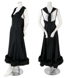 Fur Trimmed Cocktail Dress