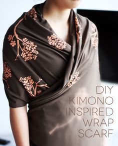 printed-kimono-inspired-wrap-scarf-cover - turn is around and make it longer, it can double as a nursing cover that doesn't allow you to flash your back.