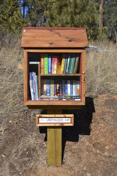 Little free library made out of a pallet.