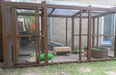 Nice aviary (attached to shed) love the raised grass bed at the end! Rabbit Shed, Rabbit Run, Pet Rabbit, Bunny Sheds, Rabbit Cages, Rabbit Habitat, Outdoor Rabbit Hutch, Rabbit Enclosure, Chicken Coops