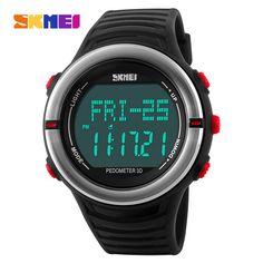 Loyal Skmei Men Fashion Casual Outdoor Sports Digital Watch Compass Waterproof Led Display Calorie Alarm Wristwatch Relogio Masculino Fancy Colours Digital Watches
