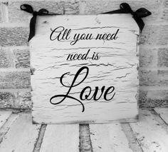 "All You Need is Love Wedding Sign ""The Beatles"""