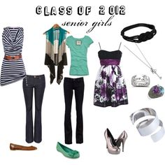 """""""Picture day outfits --senior girls edition"""" by chaoticperspectives on Polyvore"""