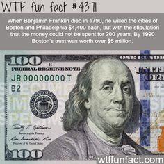 Benjamin Franklin - Faith in Humanity Restored! -WTF fun facts