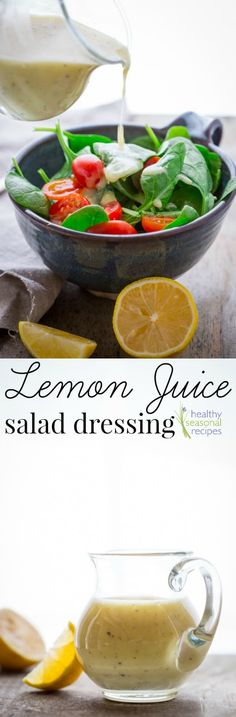 Blog post at Healthy Seasonal Recipes : Today I am sharing a simple lemon juice salad dressing. It is vegan, paleo and naturally gluten-free. It is a basic recipe to share on the f[..]