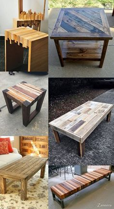 tables from scrap/reclaimed woods