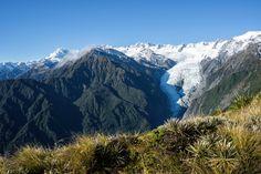 Franz Josef Glacier Alex Knob View From Top Mt Elie De Beaumont And Southern Alps