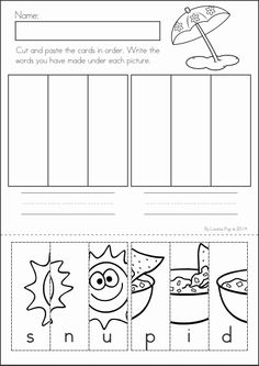 math worksheet : literacy worksheets math literacy and beginning sounds on pinterest : Math Cut And Paste Worksheets