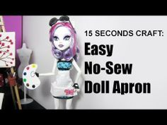 15 Seconds craft: Doll Apron - EPISODE 4