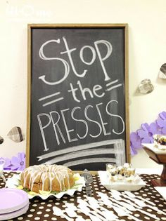 Bit-O-Me: Newspaper Themed Baby Shower {The Party}