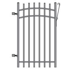 Aluminum Fence Gate Black 5 foot Home Depot Canada