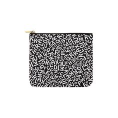 Alphabet Black and White Letters Carry-All Pouch 6 White Letters, Carry On, Alphabet, Pouch, Black And White, Cool Stuff, Hand Luggage, Black N White, Carry On Luggage