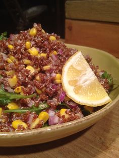 Yummy quinoa, corn salad for a fall day. Peek those pretty colors!