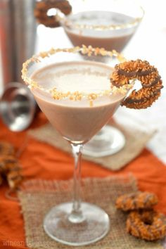 Samoa Martini   Community Post: 21 Chocolate And Booze Combinations That Are Better Than A Valentine