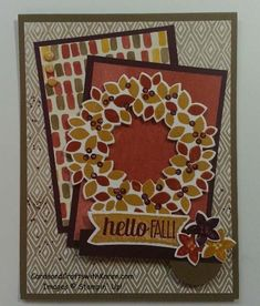 PCCCS106 - Hello Fall Card by googoobaby - Cards and Paper Crafts at Splitcoaststampers