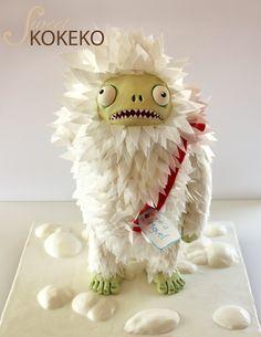 Tarta Yeti Zombie - Yeti Zombie Cake From SweetKOKEKO http://www.sweetkokeko.com/