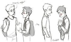 Baby, don't be so shy. #destiel #fanart #spn<<<<<I just really like the style of drawing and everything