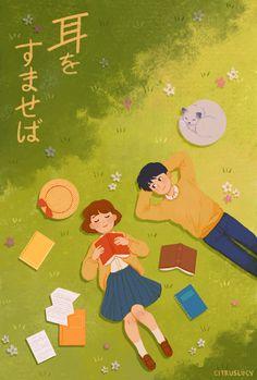 Illustrations, Illustration Art, Collages, Japanese Animated Movies, Pop Art Wallpaper, Studio Ghibli Art, Ghibli Movies, Hayao Miyazaki, Cute Cartoon Wallpapers