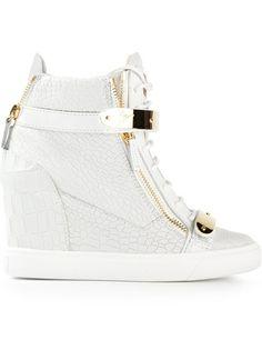 Giuseppe Zanotti Design Hi-Top Wedge Sneakers