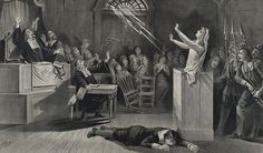 """Joseph E. Baker's """"Witch No. is a stunning lithograph illustrating the imagined events that are part of the mythology of the horrific Salem Witch Trials of the late century. To learn more, check out Smithsonian's """"Brief History of the Salem Witch Trials. Yasmine Galenorn, Salem Mass, Maleficarum, Salem Witch Trials, Early Modern Period, Tarot, Theme Color, The Victim, Wiccan"""