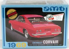 1969 Chevy Corvair AMT #894 1/25 Scale New Model Kit Classic Car Model