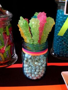 Neon / Glow in the Dark Birthday Party Ideas | Photo 9 of 19 | Catch My Party
