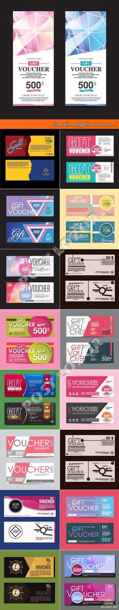 Voucher and gift cards vector 6