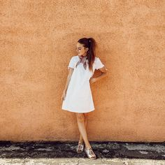 Summer travel feels with this white dress