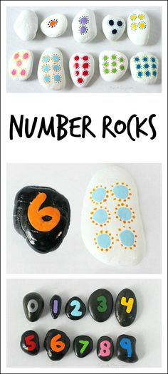 Hands-on math with homemade number rocks