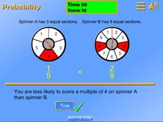 Probability game using number spinners Number Spinner, Numbers, Chart, Numeracy