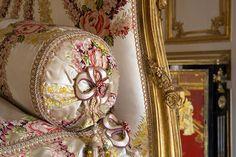 Detail of Madame Du Barrys bed. Château de Versailles