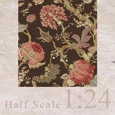 "3x Wallpaper ""Beautiful Flora"" (brown) 1/24"