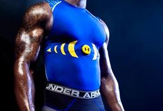 Under Armour compression shirt that's been outfitted with electronic sensors used for tracking biometrics.