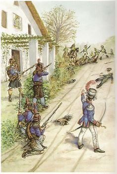 Spain; Cazadores of the 1st Volunteer Battalion of Valencia in October 1811