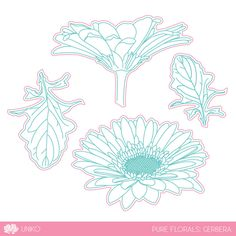 Uniko is proud to offer 100% steel dies made in the USA. This collection of dies coordinates with the HIGHLY popular Pure Florals: Gerbera clear stamp set. The dies are slightly different from the other dies we have, this time they are see through dies making stamping & die cutting a breeze! They do come …
