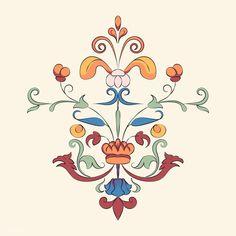 Motif Vintage, Vintage Botanical Prints, S8 Wallpaper, Pattern Wallpaper, Folk Art Flowers, Flower Art, Vintage Flowers, Botanical Illustration, Illustration Art