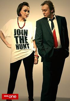 """Join the Hunt"" Ashes to Ashes promo poster featuring Alex Drake and Gene Hunt"