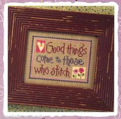 Lizzie Kate Chart Pattern Snippet Good Things Come to Those Who Stitch | eBay