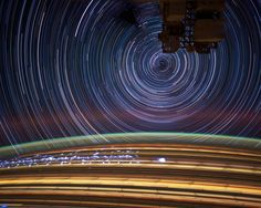 New wallpaper! May 17, 2012: Expedition 31 Flight Engineer Don Pettit took photos of star trails, terrestrial lights, airglow and auroras while aboard the International Space Station. Photo credit: Don Pettit