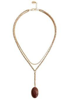 HALLHUBER MIT ZIERSTEINEN - Collier - gold - ZALANDO.CH Gold Gold, Gold Necklace, Jewelry, Outfits, Stones, Gold Pendant Necklace, Jewlery, Jewerly, Schmuck