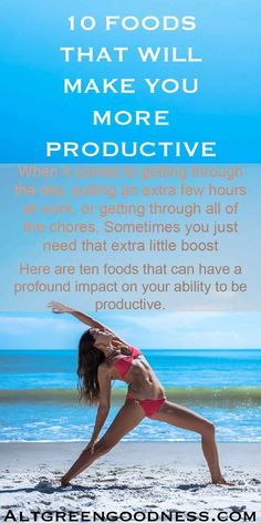10 Foods That Will Make You More Productive