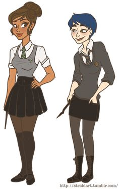 """"""" COURNWEEK Day Dress Up """" it seems im gonna be a day late for every prompt at this rate -________- but yeah! gwourtney dressed up in their clothes from my TD Harry Potter AU. they're in the same year, Courtney is in Slytherin and Gwen in. Cartoon Tv Shows, Cartoon Art, Disney Hogwarts, Manga Vs Anime, Total Drama Island, Poster Drawing, Drama Series, Cartoon Network, Cute Drawings"""